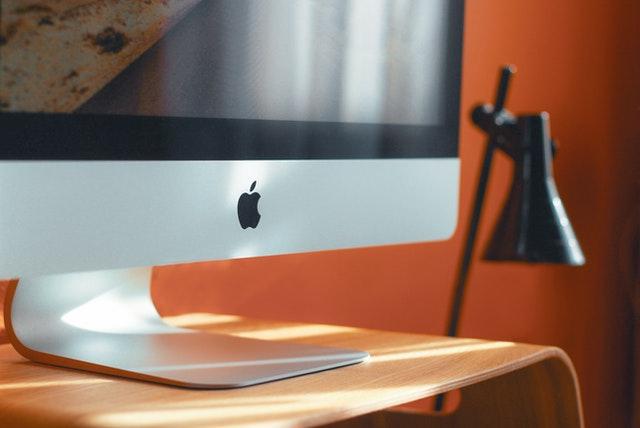 Mac on desk
