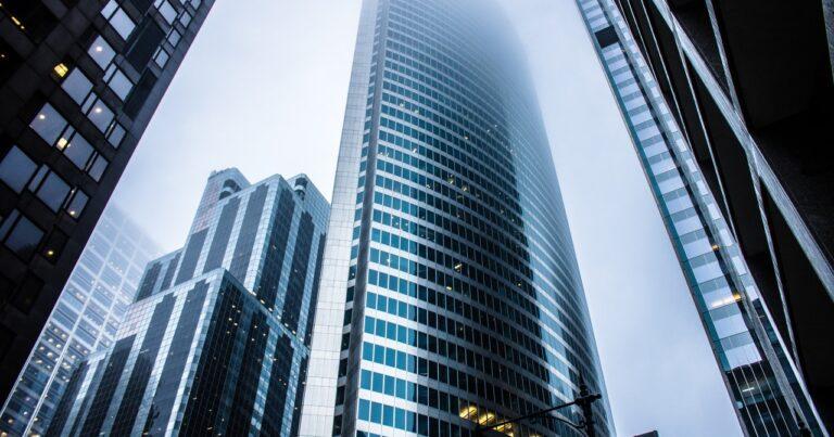 Skyscraper reaching into the sky